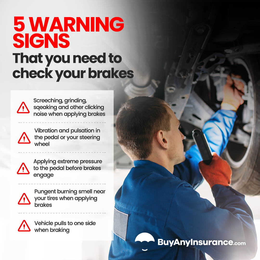 5 warning signs that you need to check your brakes