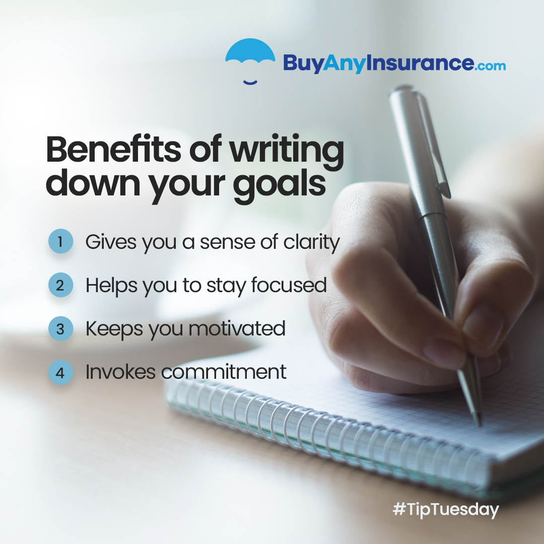 Benefits of writing down your goals